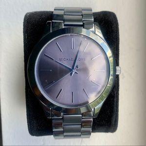 Michael Kors Slim Runway Blue Steel Watch MK3419